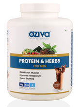 OZiva Protein & Herbs, Men, Whey Protein with Ayurvedic Herbs & Multivitamins - 2.5kgs, Chocolate