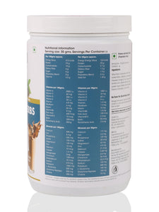 OZiva Protein & Herbs, Men - Chocolate, Whey Protein with Ayurvedic Herbs & Multivitamins - 2.5kgs