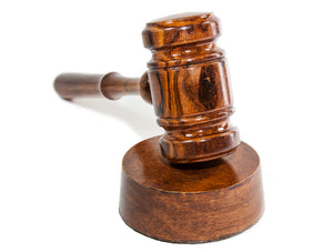 Gavel and Sound Round Block Handcrafted Walnut Wood - For Judge, Lawyer, Student, Auction Gavels