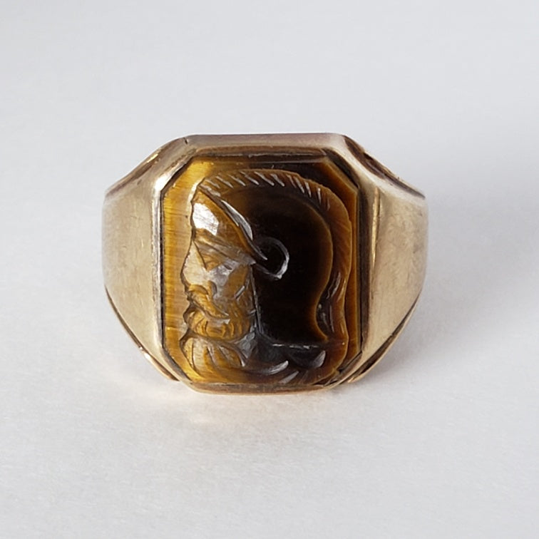 Tiger's Eye Cameo Ring