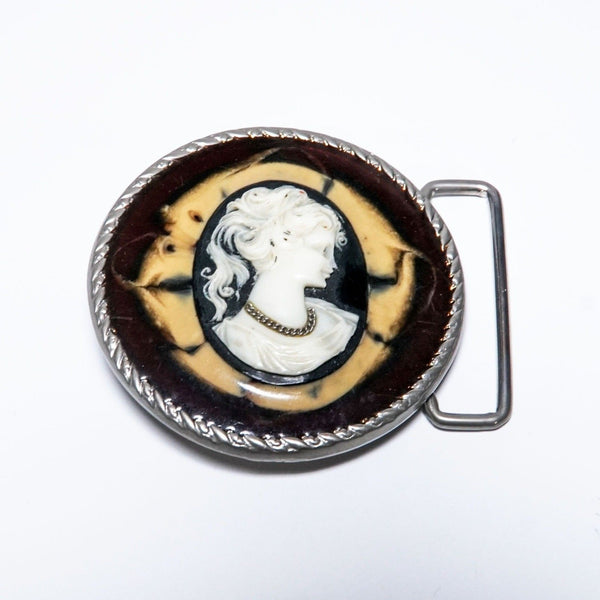Lady in Chain Cameo Belt Buckle