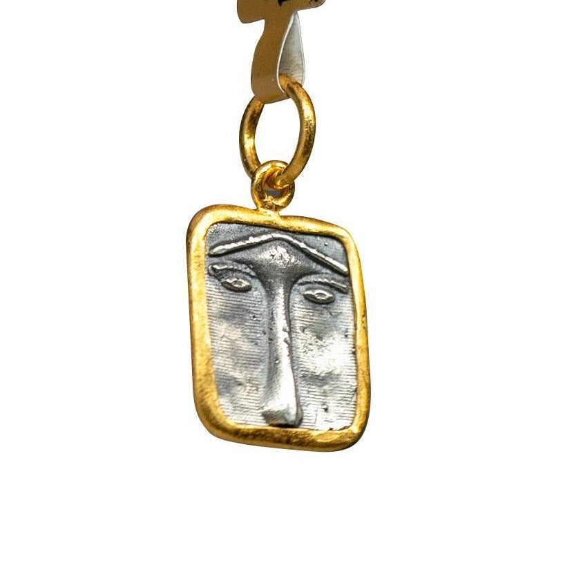 Ancient Lioness Face Pendant New