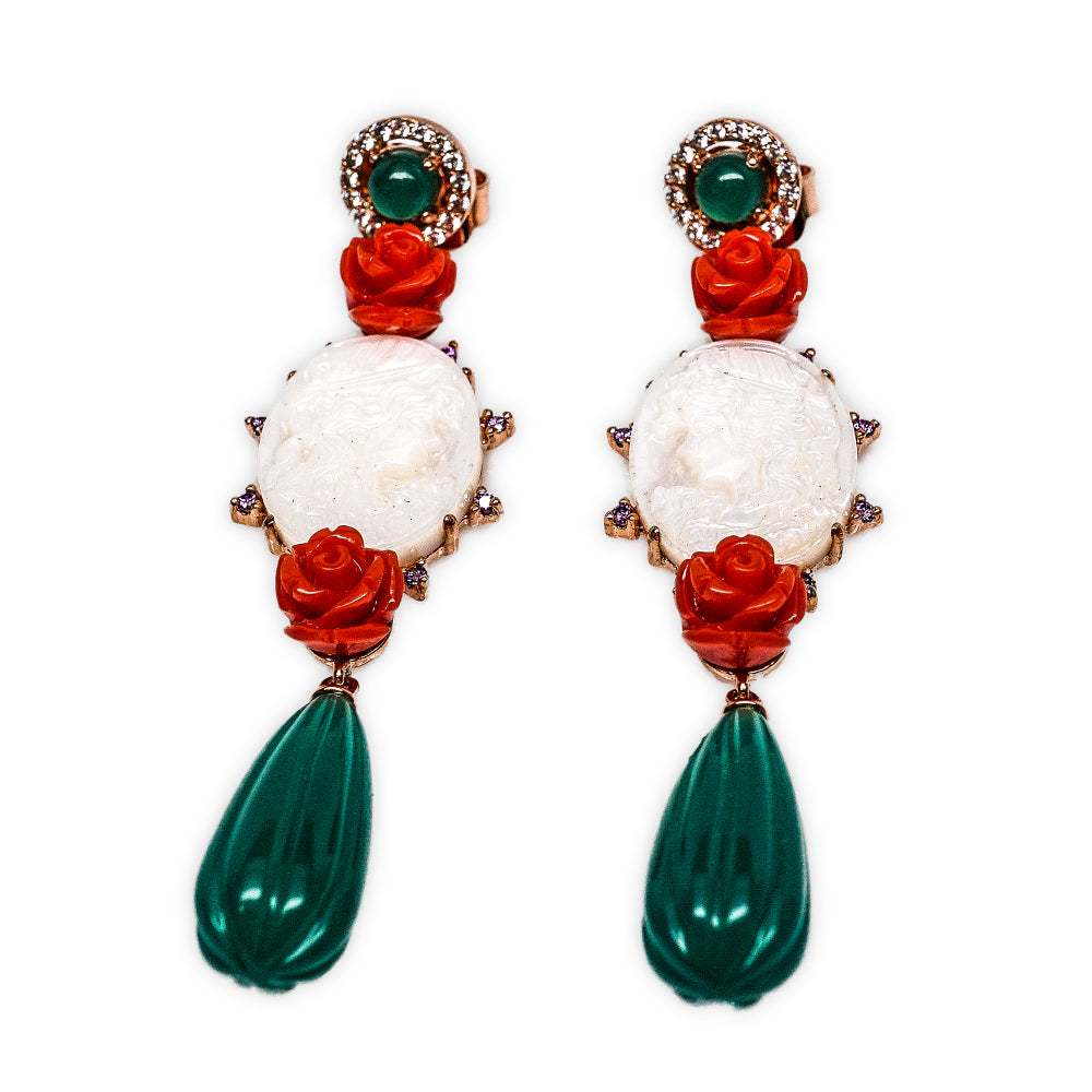 Angelique de Paris 'Principessa' Cameo Earrings