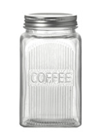 Glass & Chrome Coffee Jar