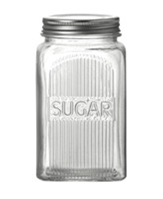 Glass & Chrome Sugar Jar