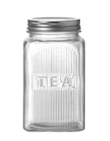 Glass & Chrome Tea Jar