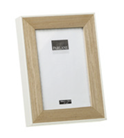 Natural Wood & White Photo Frame