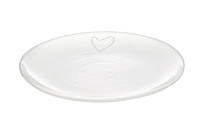Handmade Side plate with heart design