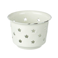 Cream Star Tealight Holder