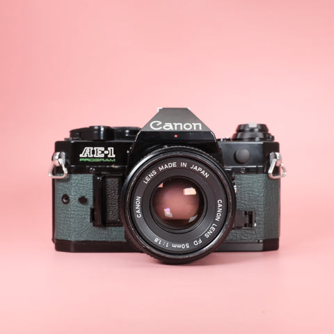 Canon AE-1 Program Black x Forest Green