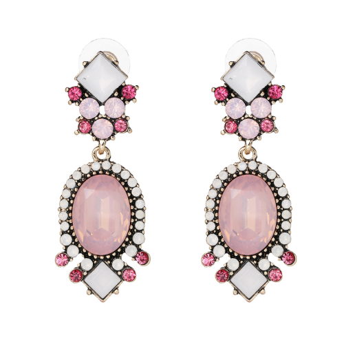 BABY PINK TUDOR EARRINGS