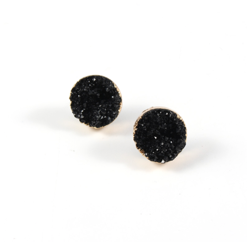 ELYSIAN BLACK STUD EARRINGS