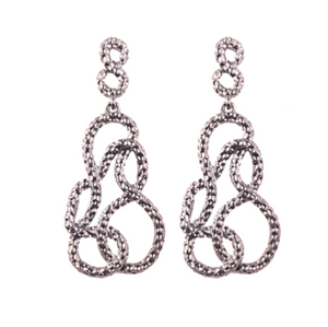 ENCHANTMENT DARK SILVER EARRINGS