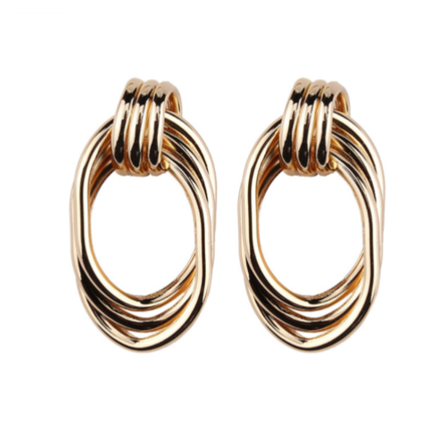 INCROYABLE TWIST GOLD EARRINGS