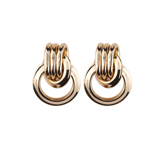 BRAZEN KNOT GOLD EARRINGS