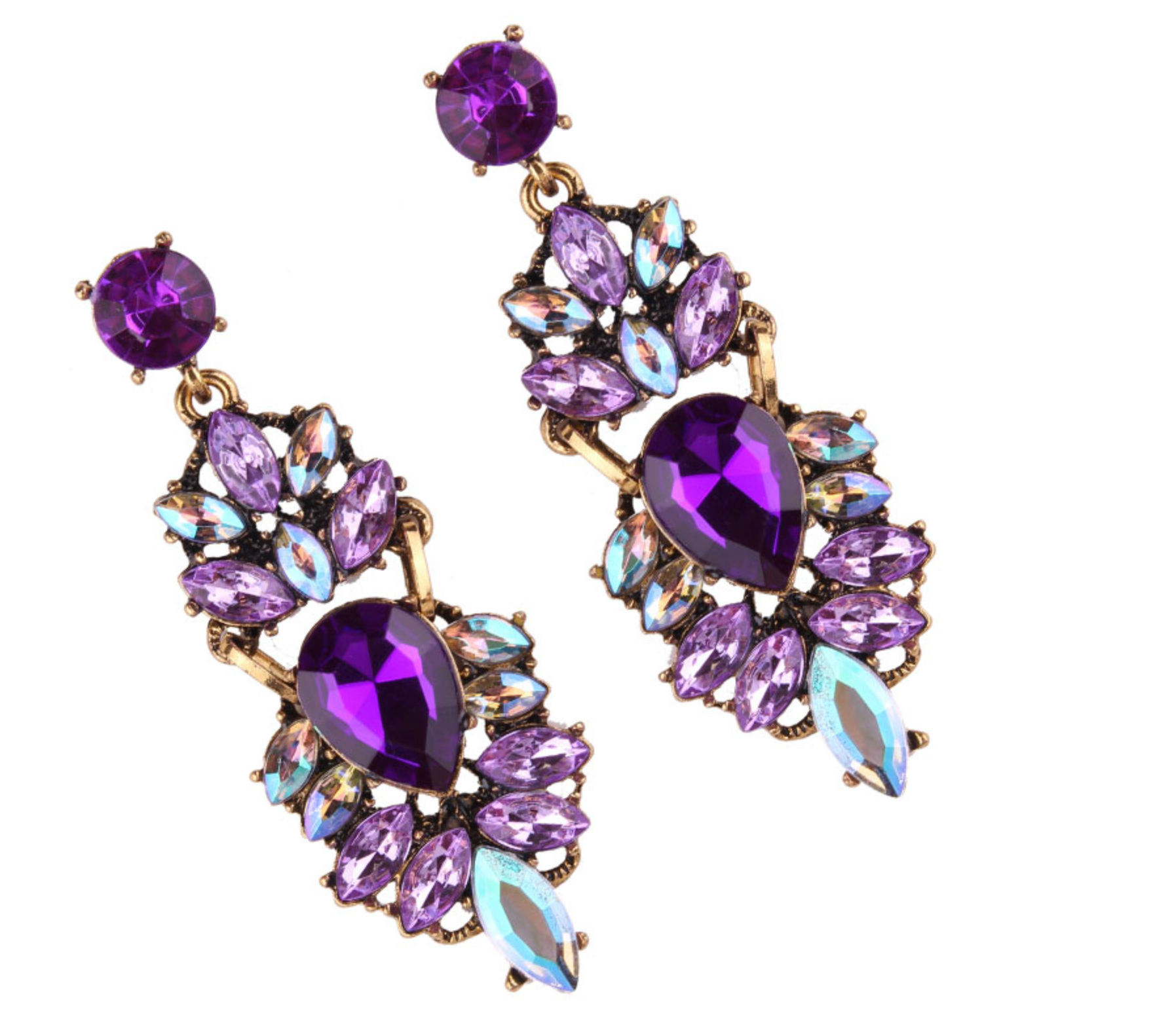 shimore quartz n earrings earring purple product blue