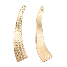 AZTEC WAVE GOLD EARRINGS