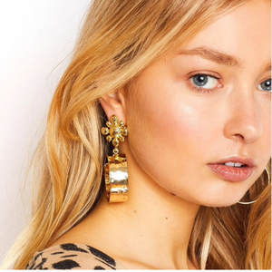 FRIVOLOUS GOLD HOOP EARRINGS