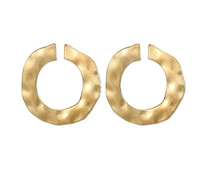 ALMOST ETERNITY GOLD STUD EARRINGS
