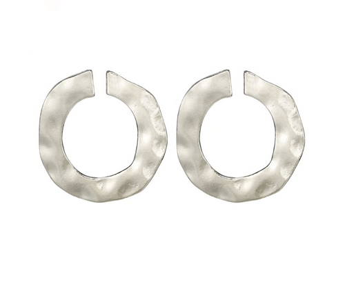 ALMOST ETERNITY SILVER STUD EARRINGS