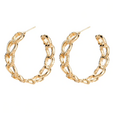 CHAINS GOLD HOOP EARRINGS