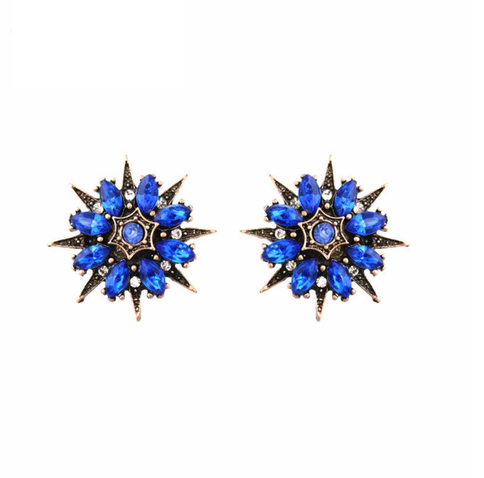 CAPRI BLUE STUD EARRINGS