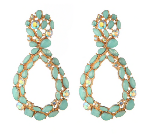 ALIA GREEN EARRINGS