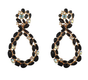 ALIA BLACK EARRINGS