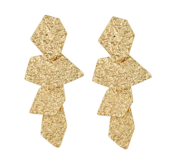 DECONSTRUCTED GOLD EARRINGS