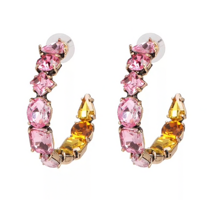 CHLOE BALLERINA PINK HOOP EARRINGS