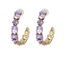 CHLOE LILAC HOOP EARRINGS