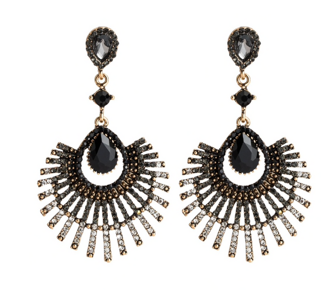 CECE BLACK EARRINGS