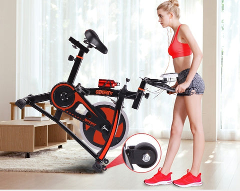 OneTwoFit Indoor Exercise Bike Cycling Spinning Bike Home Gym Cardio Training Workout