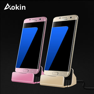 Aokin Phone USB 2 In 1 Micro Charging Dock