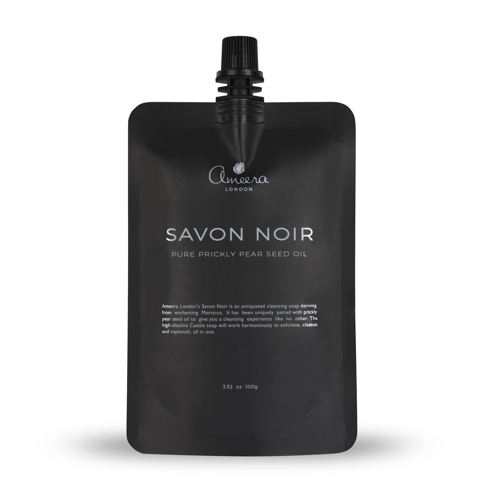 An antiquated, organic cleansing soap deriving from enchanting Morocco, our Savon Noir has been uniquely paired with prickly pear seeds to give you a cleansing experience like no other. This high-alkaline castile soap will work harmoniously to exfoliate, cleanse and replenish, all in one.  Containing a high concentration of Amino Acids, Omega 9, Omega 6 and Vitamins A, B, E, and K, use this cleansing miracle worker a few times a week to tackle lacklustre skin and give you fresh, radiate, glowing skin.