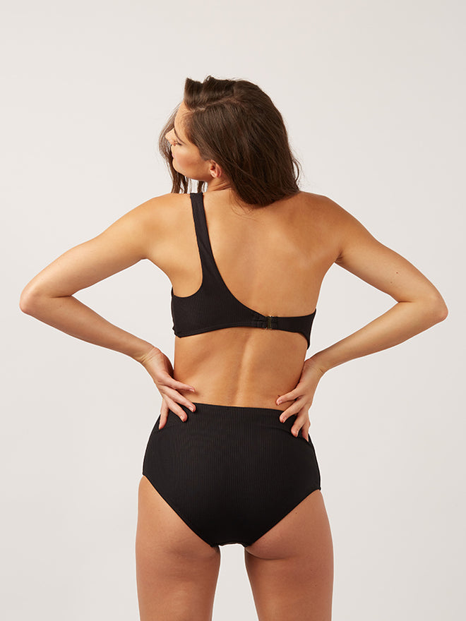 The Last Splash High Waisted Bottom Ribbed - The Last Splash High Waisted Bottom Ribbed
