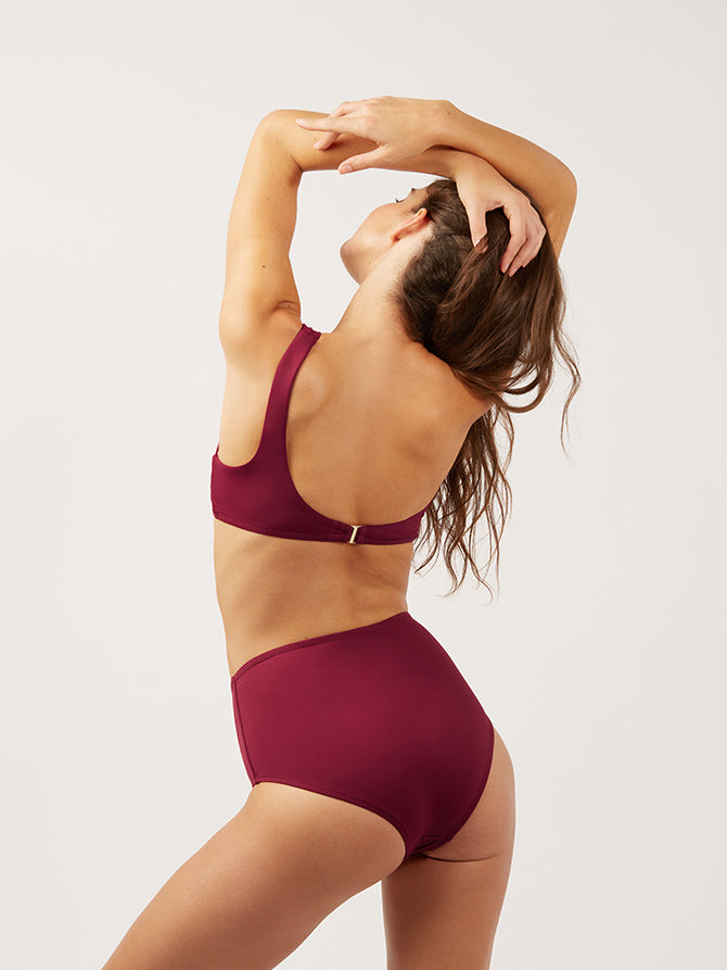 The High Waisted Bottom - bordeaux