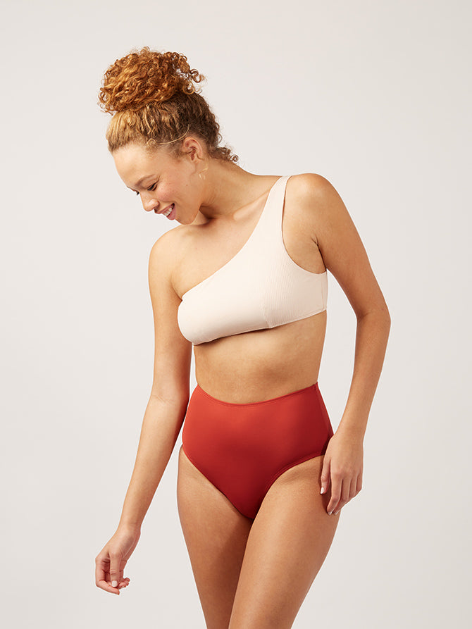 The High Waisted Bottom - terracotta