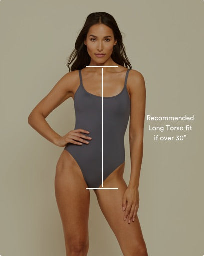Visual guide to illustrate a long torso