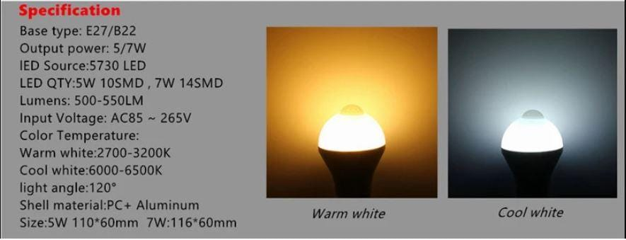 Sound Control Motion Sensor Light
