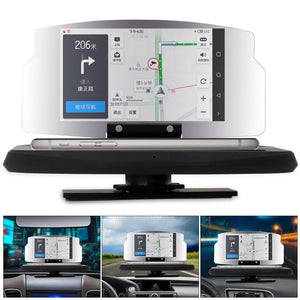 Car HUD Speed Warning  Head Up Display GPS Navigation Projector Phone Holder Wireless Charger for Phone