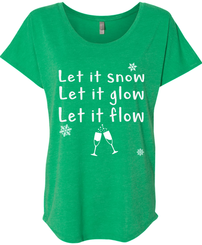 Let It Snow Christmas Tee