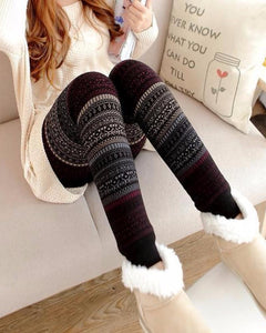 Fleece Lined Christmas Winter Leggings