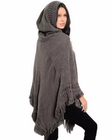 Oversized Hooded Poncho in 4 Colors