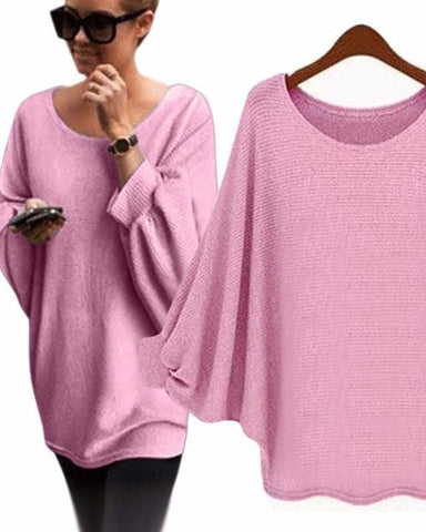 Oversized Casual Batwing Sweater
