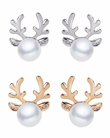 Christmas Reindeer Stud Earrings