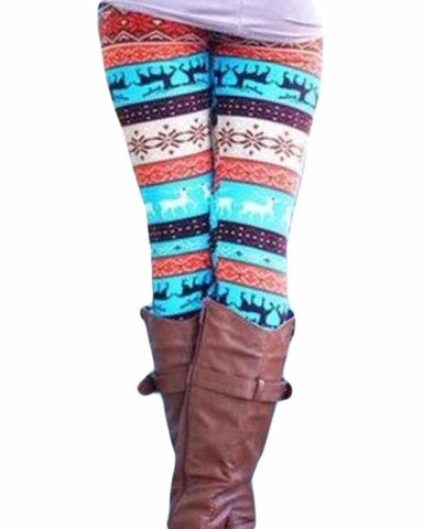 One Size Stretch Christmas Leggings
