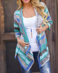 Thin Knit Striped Cardigan Two Color Options