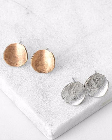 Vintage Style Round Stud Earrings