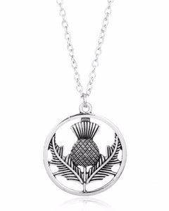 Scottland National Emblem Thistle Necklace Outlander